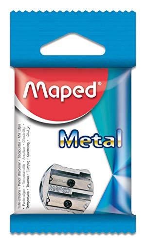 Apontador 2 Furos, Maped, Metal Classic, 6700, Prata