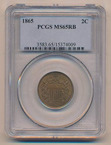 1865 P Two Cent Piece Two Cent MS65 PCGS