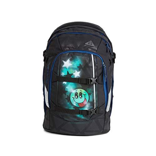 satch Pack Black Triad, ergonomischer Schulrucksack, 30 Liter, Organisationstalent, Schwarz