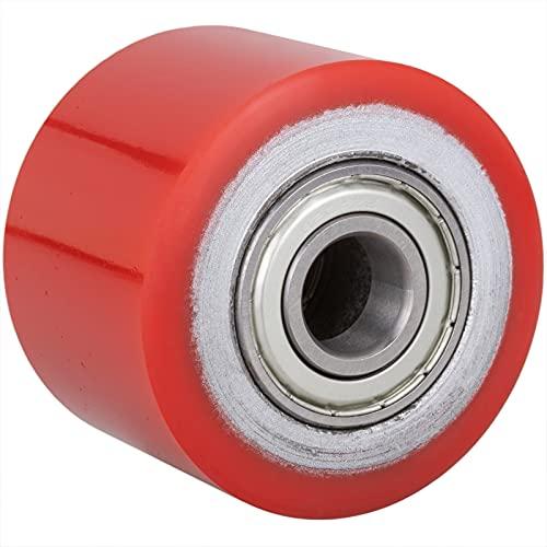 PrimeMatik - Paletten Fixierer Rad für Hubwagen Polyurethan Rolle 80x60 mm 700 Kg