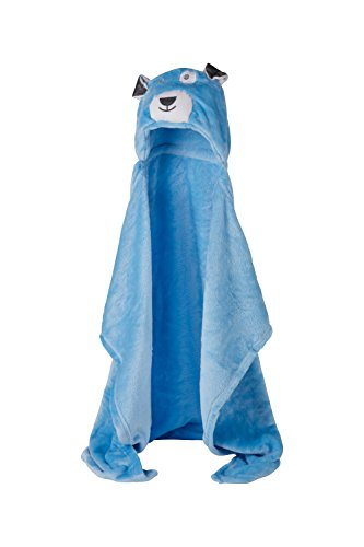 Toalla Bebé con Capucha - Mullido Albornoz para Niños (Poncho) de Microfibra (Perro Azul)