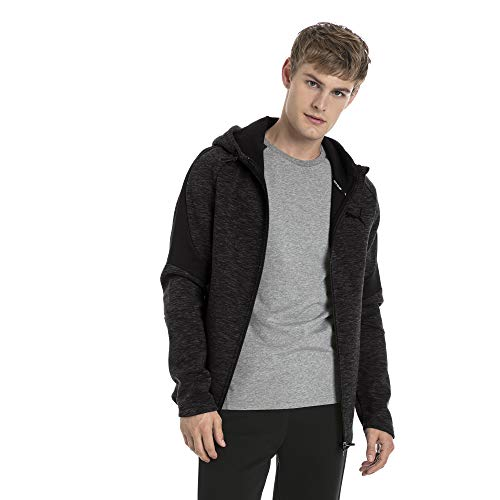 PUMA Herren Evostripe FZ Hoody Pullover, Cotton Black, M