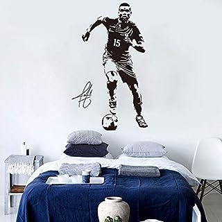 Paul Pogba wall art sticker decal decoración mural football soccer player vinilo mural poster fan gift football star wall sticker
