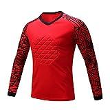 LXC Anti-Collision Football Uniforme Gardien But Vêtements Gardien But Professionnel Haut À Manches Longues Masculin Maillots Chemise Dragon Vêtements D'entraînement (Color : Red, Size : XXXL)