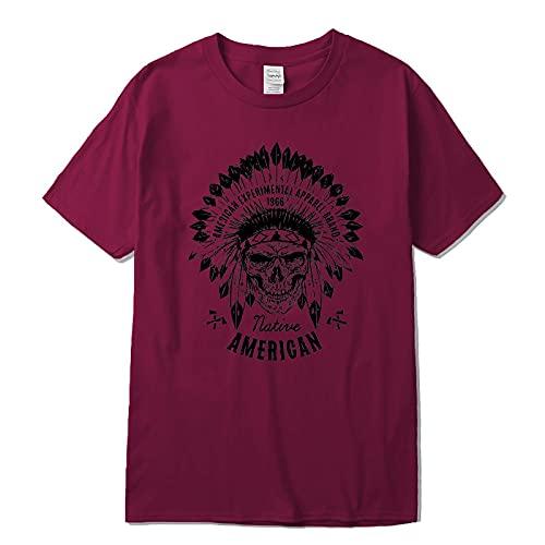 Camiseta de Manga Corta Camisa 3D Camiseta De Algodón Hombre, Moda Informal con Estampado De Calavera Divertida, Ropa Harajuku para Hombre, Divertida XL L
