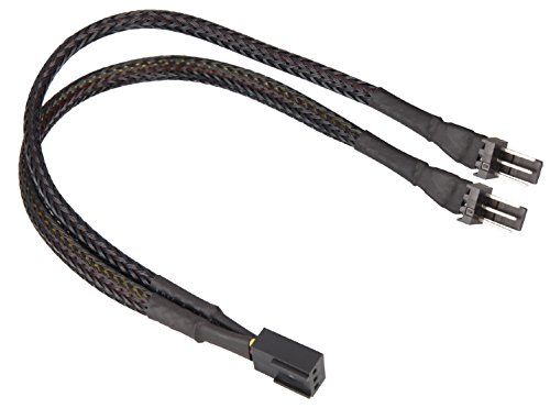 Sharkoon 0.2M, 3-pin/2X3-Pin 0,2 M - interne stroomkabel (3-pin/2X3-pin, 0,2 M, male connector/vrouwelijke connector, recht, zwart)