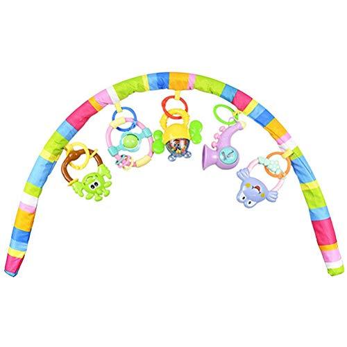 Arco de juguete para bebé – Linda tela de bosque para pájaros de animales, juguete para bebé, viaje, juego de actividad, barra para cochecito, cuna