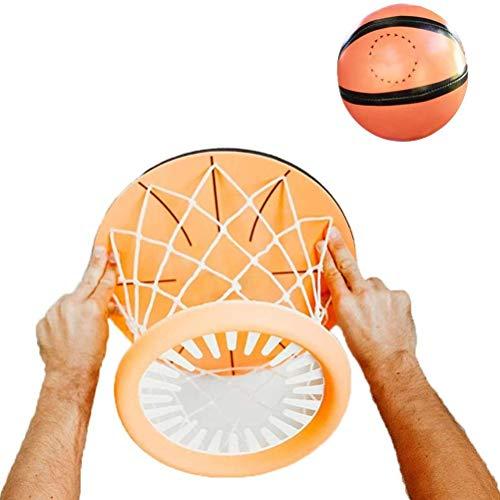Jsdufs Manta Aro de Baloncesto para Interior Mini aro de Baloncesto Aro de Baloncesto para niños y Adultos, Manta Interior Juego de Pelota de Tiro Juego Deportivo Manta portátil Aro de Baloncesto