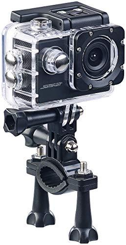 Somikon Helmkamera: HD-Action-Cam DV-1212 V2 mit Unterwasser-Gehäuse, IP68, bis 30 m (wasserdichte Kamera)