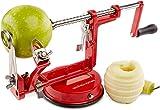 Andrew James Eplucheur Pomme 3 en 1 Péle Pomme avec Support Ventouse Pour Tout les Types de Fruits et Légumes