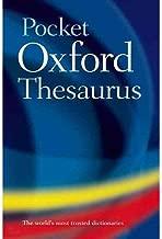 Pocket Oxford Thesaurus - Hardcover