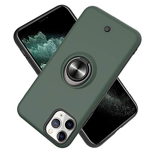 FAWUMAN Hülle für iPhone 11 Pro (5.8inch) mit Standfunktion, Dekomprimierungsknopf, Rotationsgyroskop, PC + TPU Handyhülle Stossfest Case -Dunkelgrün