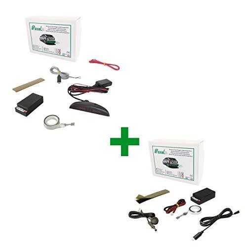 Sensore di Parcheggio Elettromagnetico Anteriore + Posteriore con Display Wireless Senza forare il paraurti, Universale e Originale Proxel Versione 2020