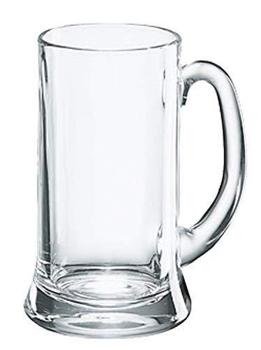 Borgonovo 12003620 Icon Bierseidel, Bierkrug, Bierglas, 385ml, mit Füllstrich bei 0.3l, Glas, transparent, 6 Stück