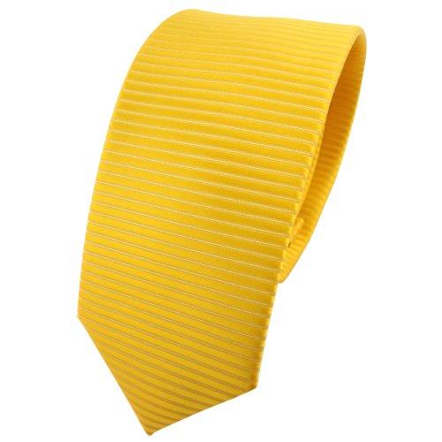 TigerTie - corbata estrecha - amarillo dorado sol amarillo monocromo-modelada
