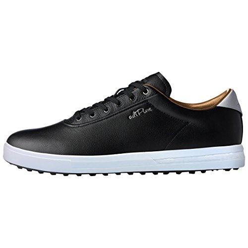 adidas Golf Herren Adipure SP Boost-Golfschuhe - Core Schwarz/Silber - UK 10