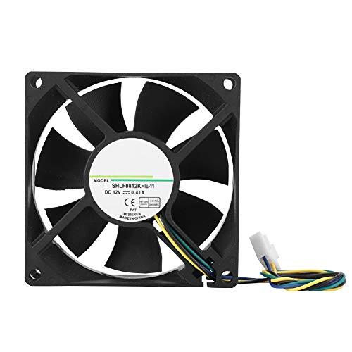 Refroidisseur de processeur pour AMD/Intel, Ventilateur de 80 mm, Radiateur de processeur DC12V 4000RPM 38.55CFM 4 broches PWM pour boîtiers PC, Refroidisseurs de processeur, Système de radiateurs
