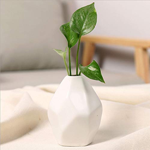 Blumentopf Bermnn Nordic moderne minimalistische kleine frische facettenreiche Keramik-Vasen, getrockneter Blumentopf Blumenarrangement Literatur, facettenreiche hydroponische Töpfe, Desktop-Bürobedar