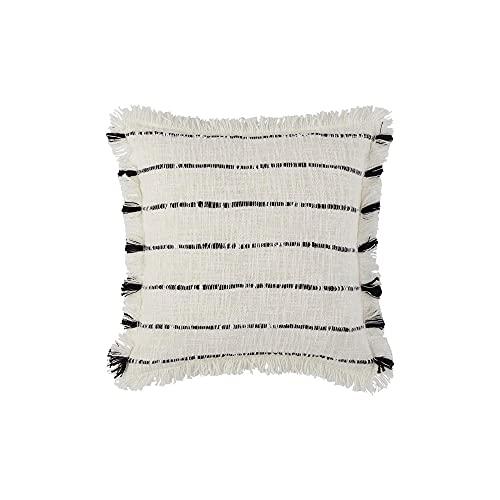Madura - Funda de cojín Taha (40 x 40 cm), color blanco y negro