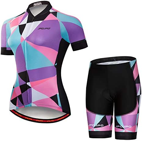 JPOJPO Women s Cycling Jersey Bike Short Sleeve Padded Cycling Shorts Quick Dry product image