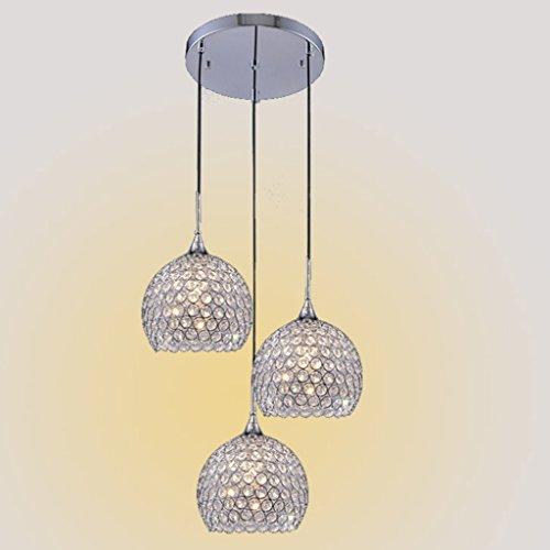 PIAOLING Lustre en cristal à LED simple moderne, bar personnalisé table créative restaurant trois lustres (Color : A-S)