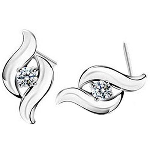 iTemer Elegant Gestalt Ohrringe Legierung Versilberung weibliche Ohrringe 1 Paar