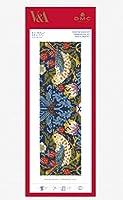 【DMC】 クロスステッチ 刺繍キット BL1170/77 William Morris - Strawberry Thief 『いちご泥棒』 ブックマーク(しおり)