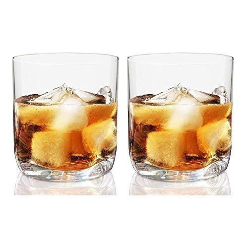 KAYBELE Whiskey Glasses Set Whiskey Carafe Set 12.5 oz Whisky Whisky Doble Vidrios Antiguos, Base de inserción del Thumb, lavavajillas CARWARE, Ideal para Bourbon & Scotch Homes & Bares Set 2