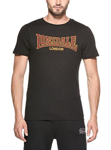 Lonsdale T-Shirt Classic Slimfit - Camiseta Hombre, Color Negro, Talla X-Large