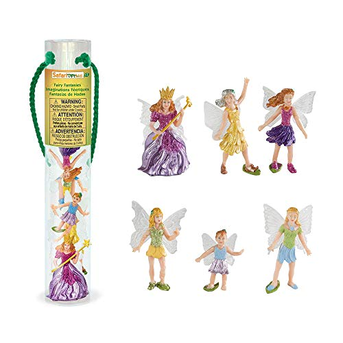 Safari Ltd Fairy Fantasies Toy Figurine TOOB, Including 6 Winged Fairies