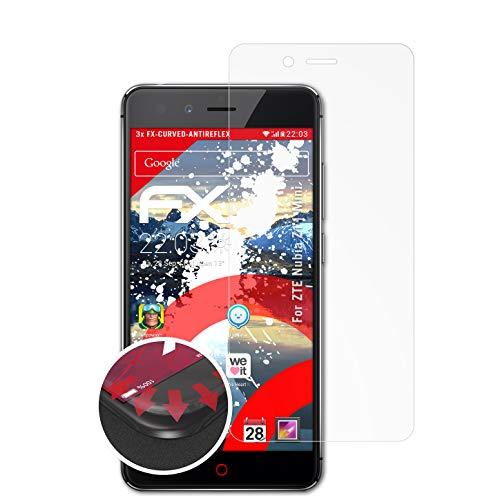 atFolix Schutzfolie kompatibel mit ZTE Nubia Z11 Mini Folie, entspiegelnde & Flexible FX Bildschirmschutzfolie (3X)