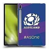 Head Case Designs Licenciado Oficialmente Scotland Rugby como uno Logotipo 2 Carcasa de Gel de Silicona Compatible con Galaxy Tab S7+ / Tab S7 Plus 5G