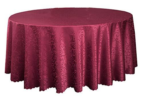 Black Temptation Banquet de Mariage Accessoires de Table Nappes Rondes Couverture de Table Rouge (240 * 240 CM)