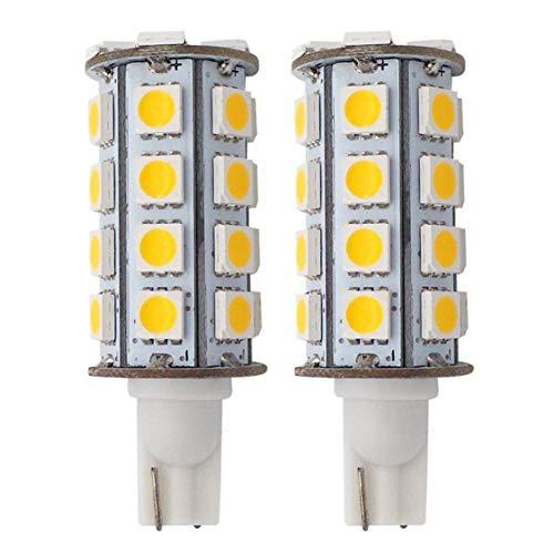 GRV T10 921 192 194 COB 1511 SMD LED Lights Bulbs 2.8W AC/DC 12-14V Glass Ceramic LED for RV Dome Interior Car Lights (Warm White, 2pcs)