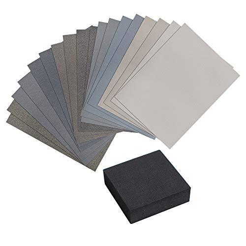 "Micro-Mesh Regular Abrasive Polishing Cloth Kit 4 Sheets 6/""x3/"""