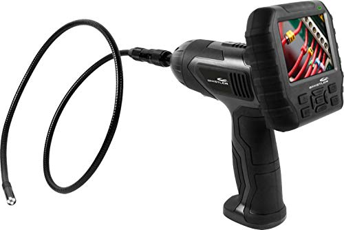 """Whistler WIC-4750 Waterproof Borescope Inspection Snake Camera with LED Lighting, 3.5"""" LCD Monitor"""