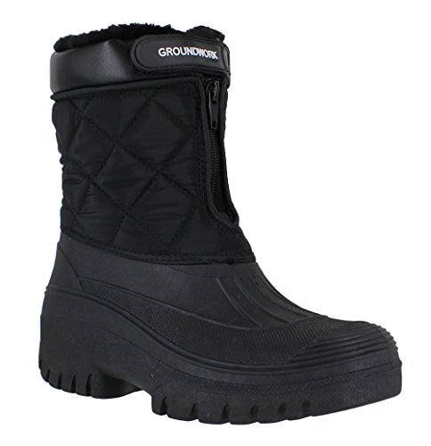 GroundWork LS83 Womens Muckers Mukker Stable Winter Waterproof Lined Snow Boots UK6 Bl