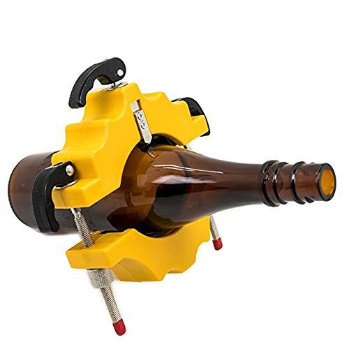 GLJY Glasflaschenschneider, runde/quadratische/ovale Glasflaschenschneidemaschine vom Hals bis zum Körper, Glasschneider Weinflaschenschneider für kreative Lampe/Kerze/Pflanzgefäß