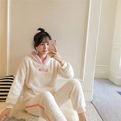 DUJUN Pijama de Franela para Mujer, Albornoces Gruesos de Invierno, Trajes de camisón con Capucha de Dibujos Animados, Linda Ropa para el hogar, una Variedad de Estilos, A18 L