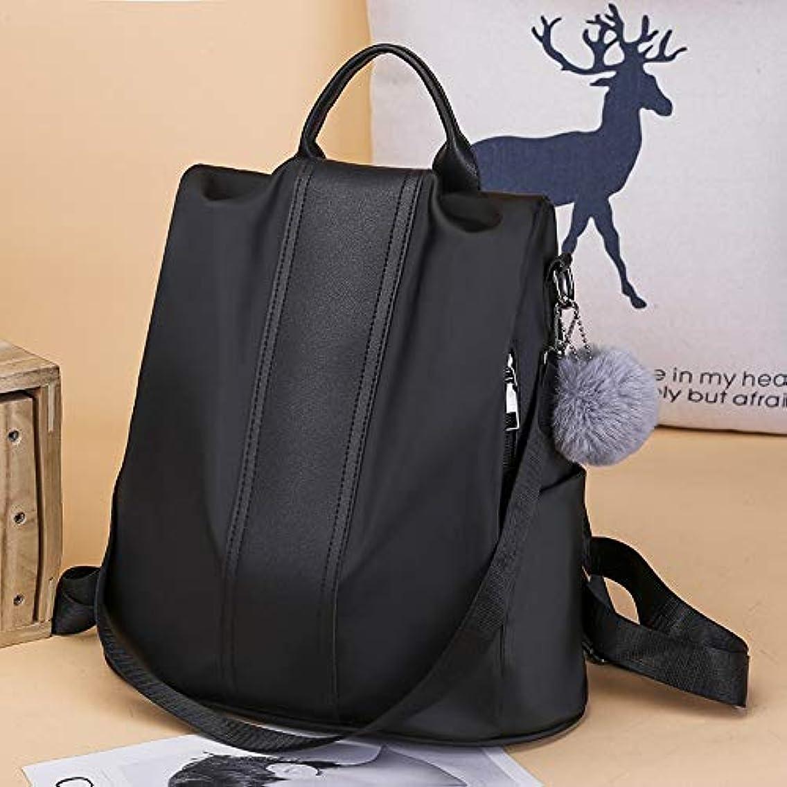 RLJJCS Oxford Cloth Shoulder Bag Female 2018 New Anti-Theft Korean Version of The Bag Wild Fashion Nylon Travel Small Backpack Handbags Backpack (Color : Black)