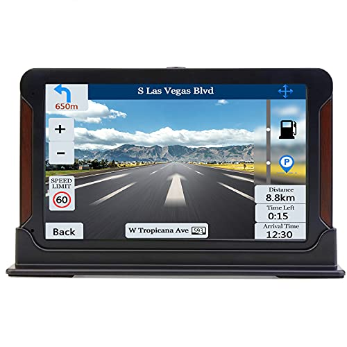 SAT NAV, Aonerex GPS Navigation System 7 inch Touch Screen Pre-Installed Latest Europe UK Ireland Maps + Free Lifetime Updates with Postcodes POI Search Speed Camera Alerts Lane Assistance
