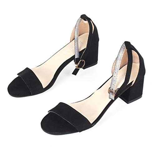 Vintage Open Toe Ankle Strap Fashion Summer High Heel Women Casual Sandals