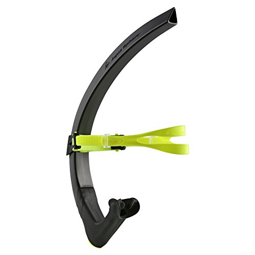 MP Michael Phelps Focus Swim Snorkel, Black Neon