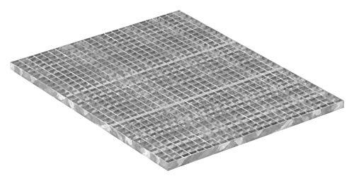 Fenau | Gitterrost/Industrie-Rost/Garagen-Rost, Maße: 1000 x 800 x 30 mm, MW: 30/30 mm, Materialstärke: 3 mm - Radlast: 2,29 kN/Flächenlast (m²): 11,76 kN, feuerverzinkt, Pressrost