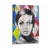JINLIGSLY Twiggy Poster, dekoratives Gemälde, Leinwand,