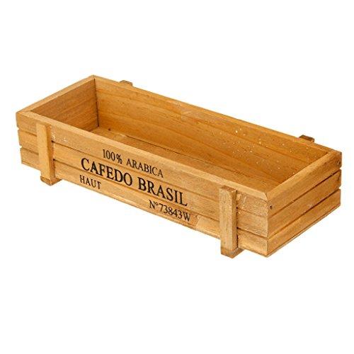 Caja de Madera Multifunción para Suculentas Cultivo, Maceta de Flores, Macetas para Cactus, Caja de Almacenamiento de Vino Tinto
