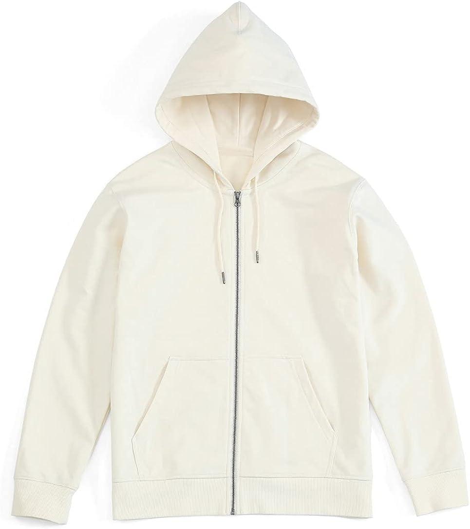 chouyatou Men's Casual Full Zip Cotton Hooded Sweatshirt Jacket Fashion Hoodie