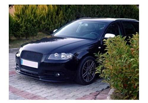 wenxin Fit for Audi A3 A4 S3 S4 8P 8L Paraurti Anteriore Sedile Labbro Labbro Cupra R Linea Euro Spoiler Lip Universale, Protezione Paraurti per Auto (Color : Matte Black)