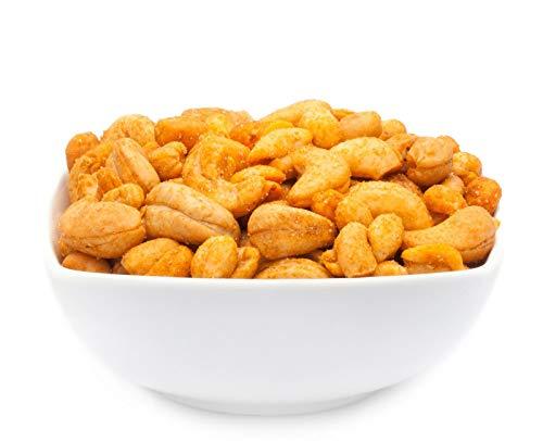 2 x 700g Cashewnüsse und Erdnüsse Nusskernmischung geröstet gesalzen mit Chili mittelscharf vegetarisch laktosefrei 21 % Protein