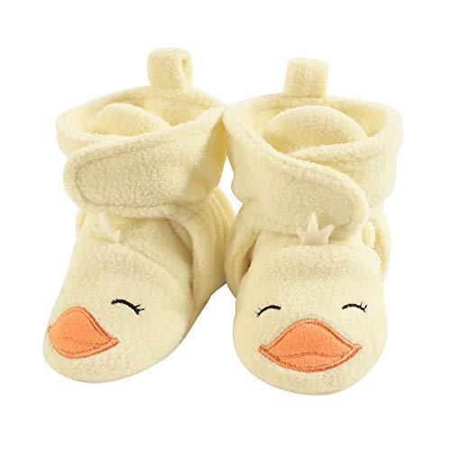 Hudson Baby Unisex Cozy Fleece Booties, Yellow Duck, 18-24 Months